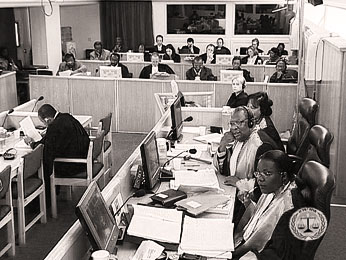 "Court hearing during the ""Butare case"""